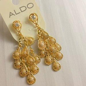 Aldo chandelier gold earrings